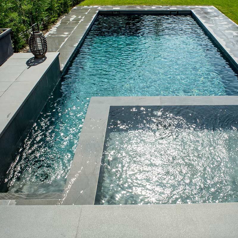 Private pool with built-in spa area Tao Grey