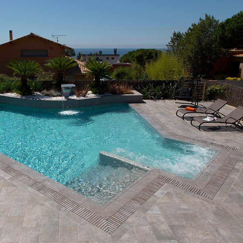 Free style private pool Mistery Blue Stone
