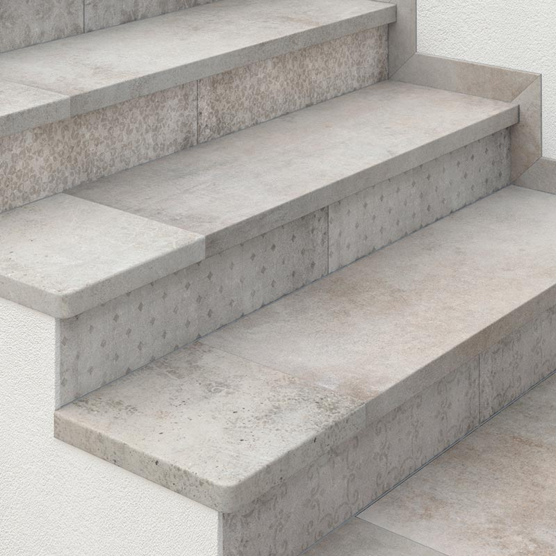Steps, baseboards and skirting boards | Rosa Gres