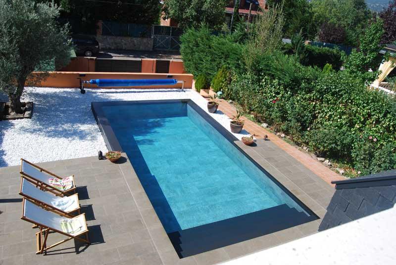Piscina privada rosa gres - Proyecto piscina privada ...