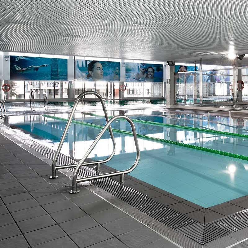 Pavimento de piscina deportiva Aqua Plomo