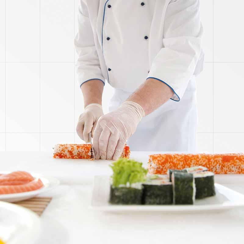 Cerámica Bactericida Biostop de Rosa Gres aplicada en Cocinas
