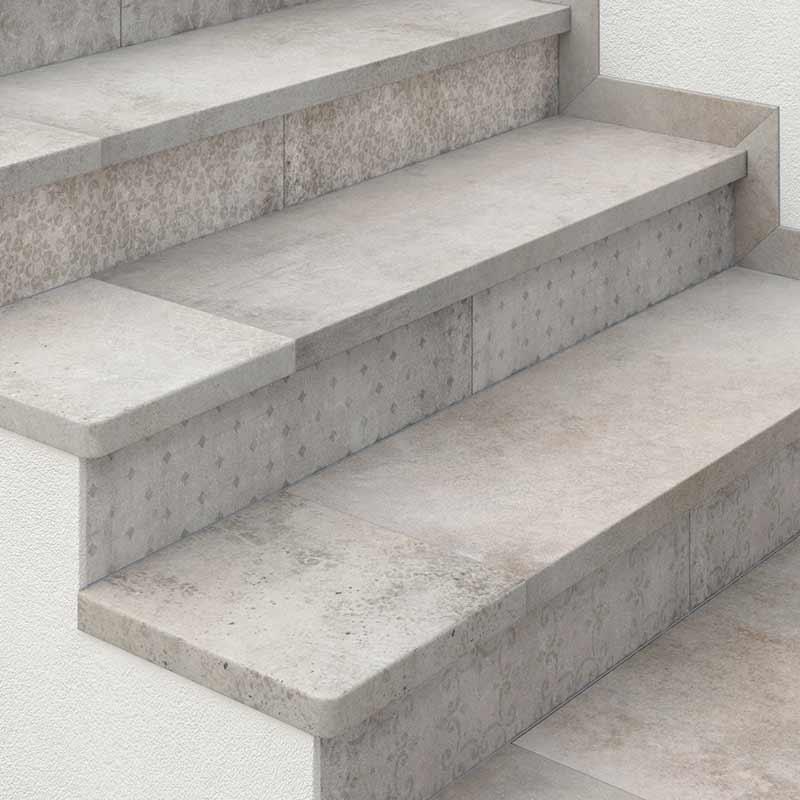 Rosa gres piezas de acabado para todo soluciones for Soluciones para escaleras