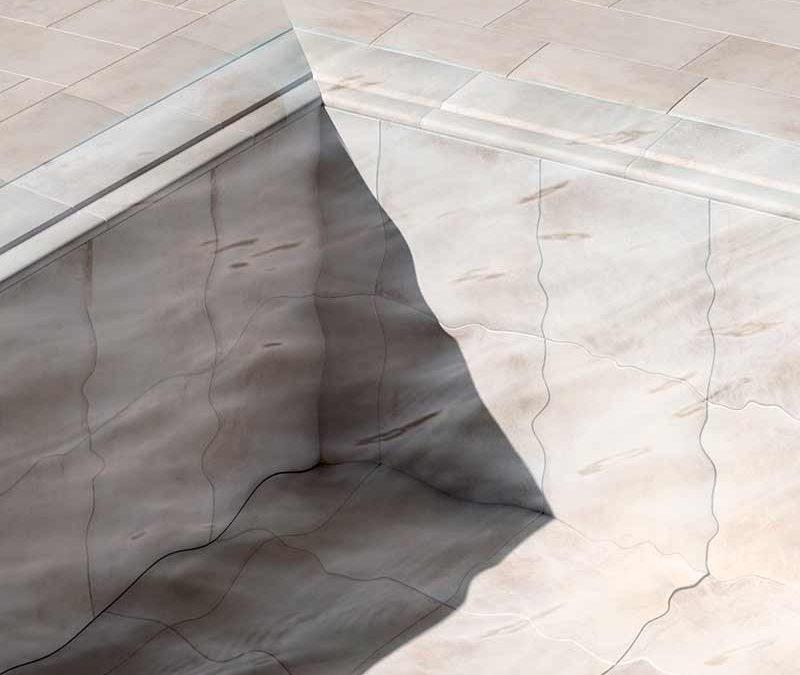 Piscina desbordante con Rejilla Invisible Colección Bohème