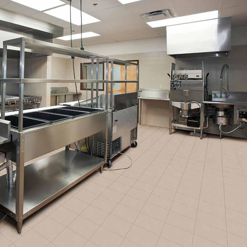Rosa gres cocina industrial seguridad resistencia y for Baldosas para cocina