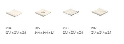 Piezas de acabado para plato de ducha en gres porcelánico Rosa Gres - Industrial y bactericida