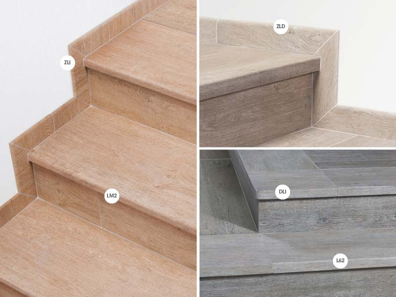 Rosa gres colecci n lovely gres porcel nico efecto madera - Zocalos para escaleras ...