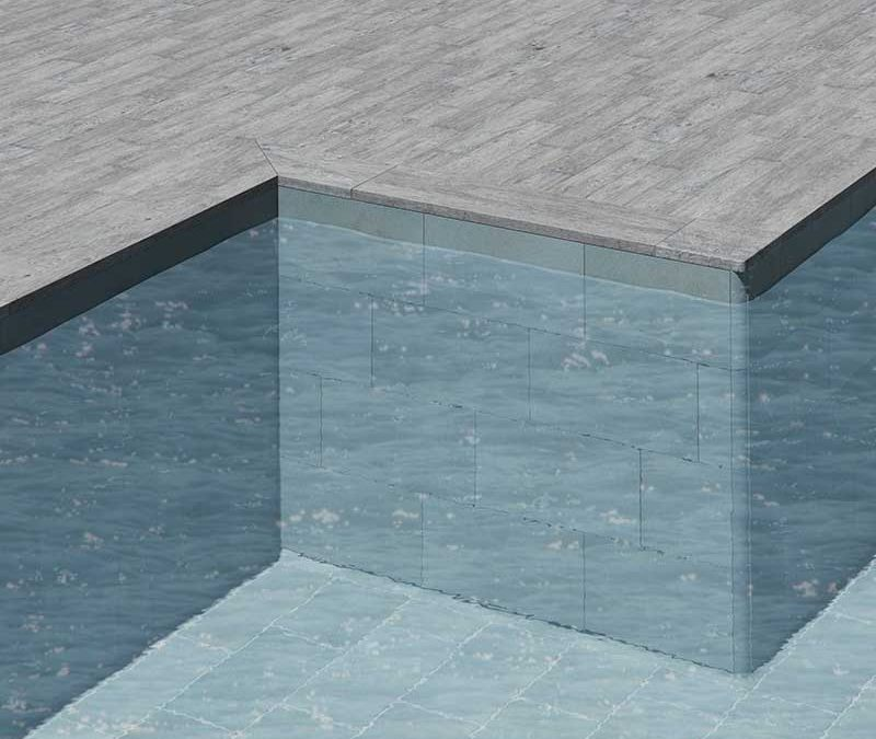 Piscine traditionnelle avec solution « L »