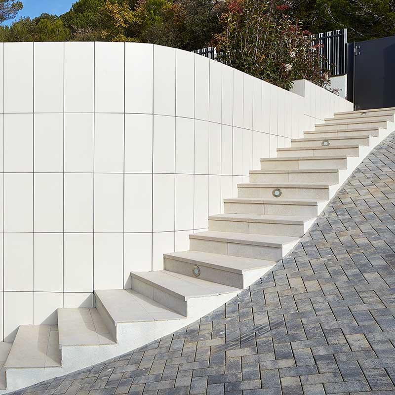 Rosa gres pavimento exteriores revestimiento para - Pavimentos para terrazas exteriores ...