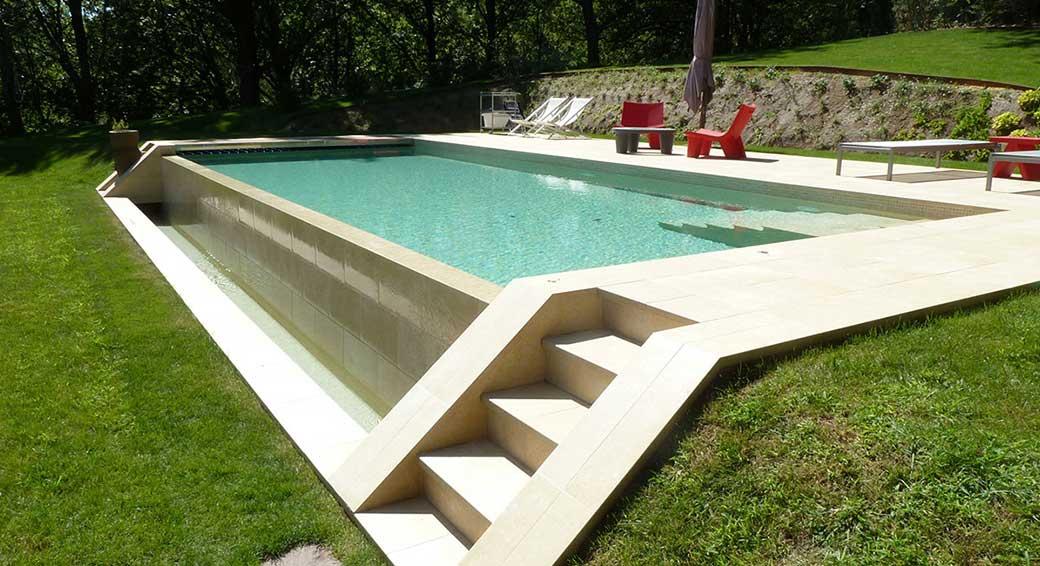 Rosa gres tendencias en piscinas piscinas de gres porcel nico - Proyecto piscina privada ...