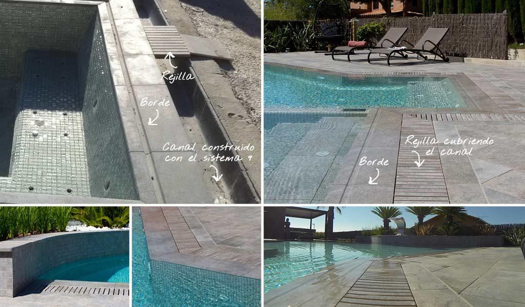 Todo lo que hay que saber sobre las piscinas desbordantes for Rejillas para piscinas