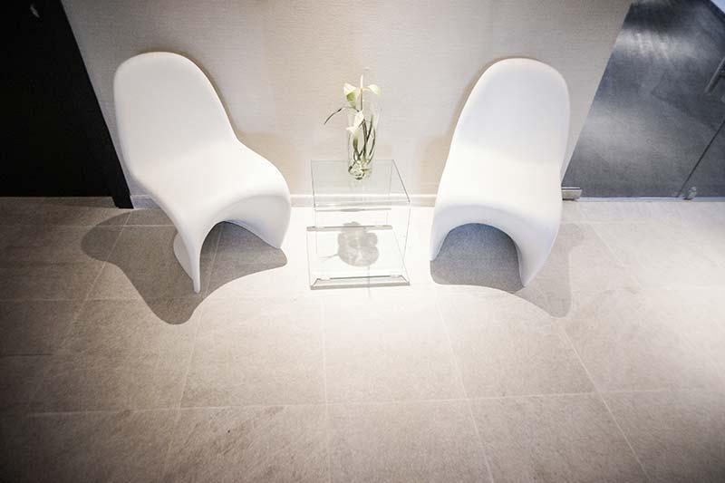 Pavimento de Gres porcelánico Rosa Gres - Hotel Spa Elba
