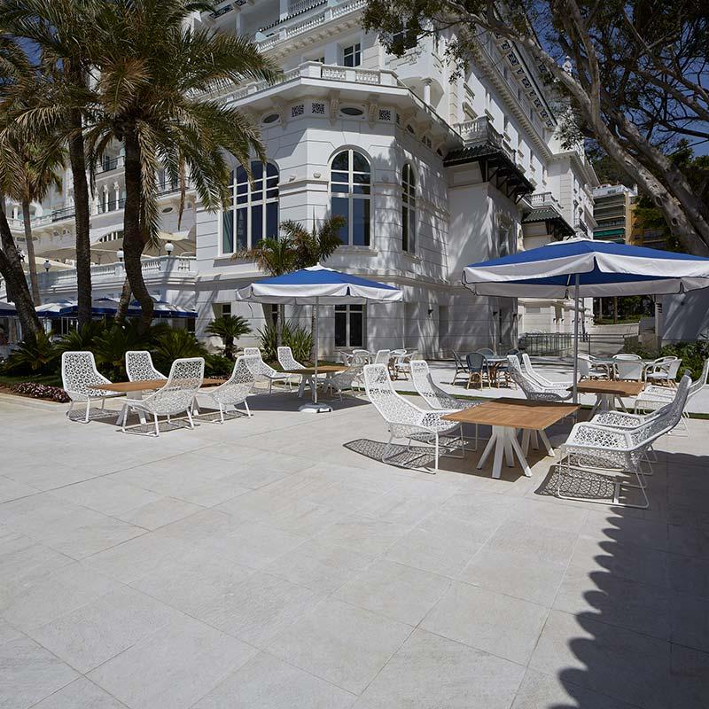 Suelos de Gres porcelánico - Exterior Spa Gran Hotel Miramar