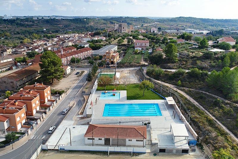 Vista area piscina municipal Vallmoll, Tarragona