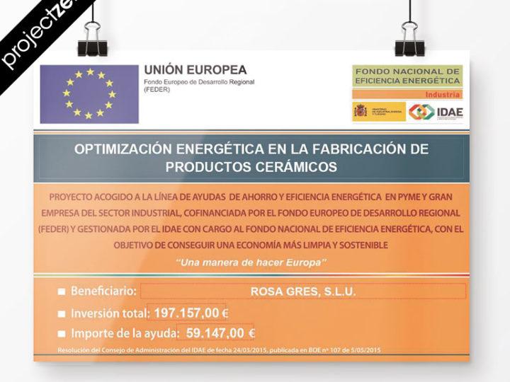 Rosa Gres reçoit une aide officielle pour améliorer les économies d'énergie dans l'usine de Vallmoll