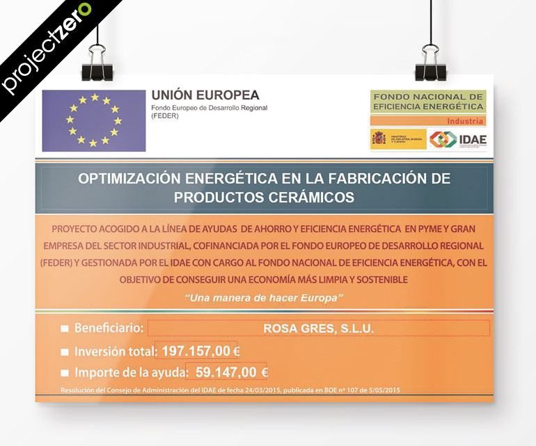 IDAE Aid for the improvement of Energy Efficiency in the Vallmoll de Rosa Gres plant