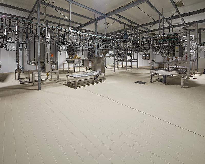 Industrial floors by Rosa Gres - Meat Industry INASUR
