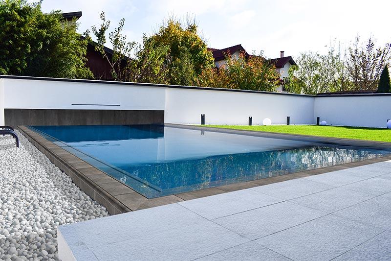Piscina privada gres porcel nico boh me blue rosa gres - Proyecto piscina privada ...