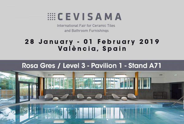 Rosa Gres retour a Cevisama 2019 - Stand A71