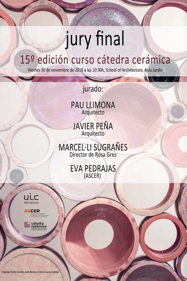 Rosa Gres final jury of the Ceramics Chair of the UIC Barcelona
