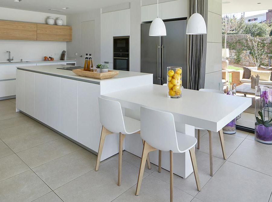 Kitchen flooring in porcelain stoneware Mistery White - Rosa Gres