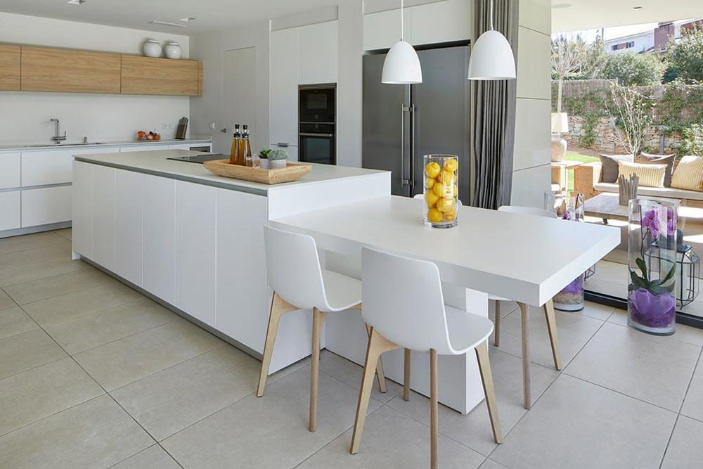 Kitchen flooring in porcelain stoneware Mistery White - Rosa Gres