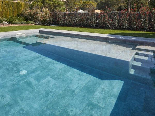 Private Pool. Mistery Blue Stone. Olivella. Spain
