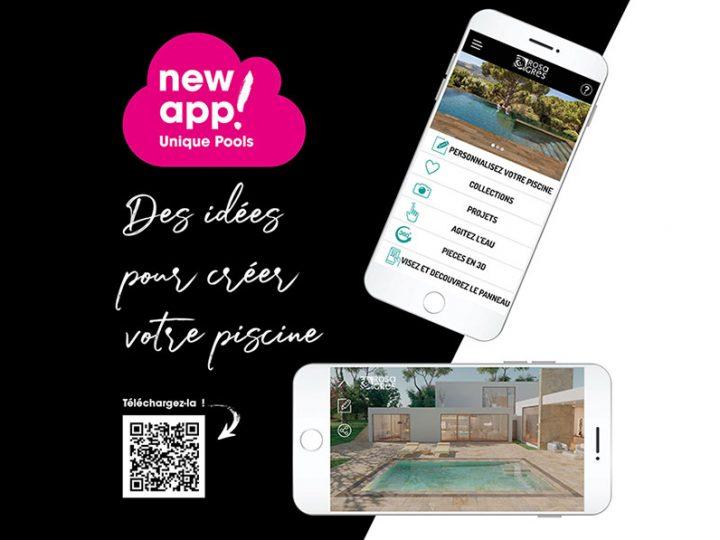 Appli Unique Pools de Rosa Gres