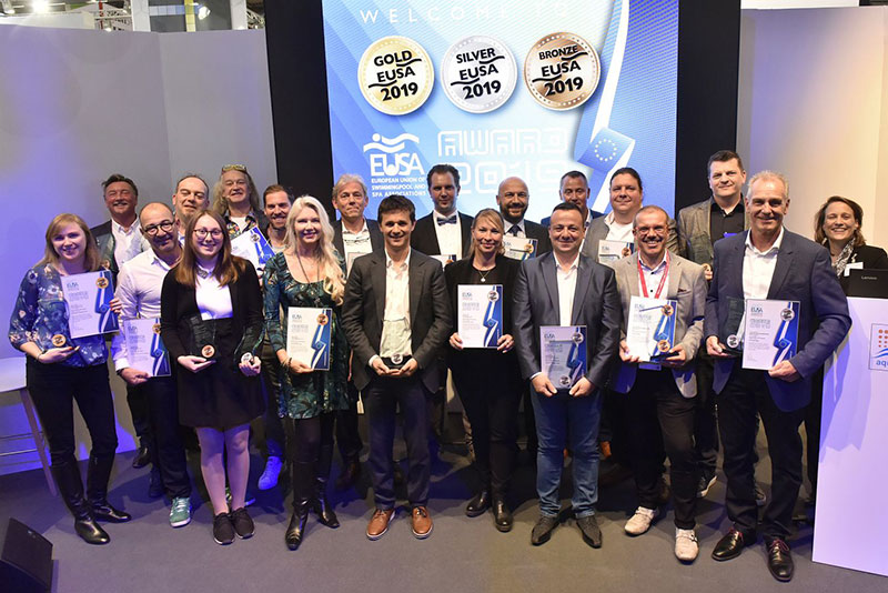 Rosa gres awarded as best outdoor pool for EUSA Awards 2019