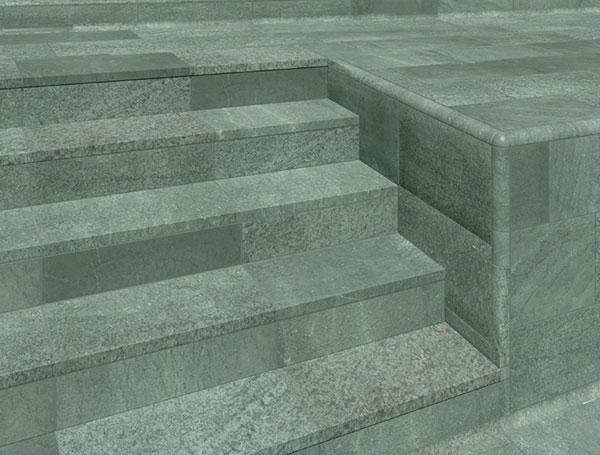 Escaliers et plinthes en grès cérame Collection Trésor