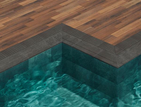 Système Prestige pour piscine à débordement, collection Trésor