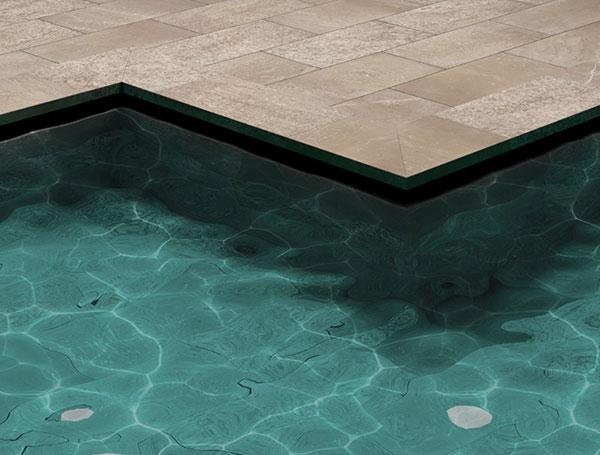 Sistema smart para piscina desbordante, colección Trésor