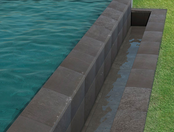 Infinity pool finishing pieces Trésor collection
