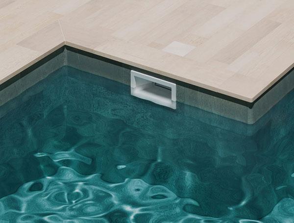 Solución L para piscina en gres porcelánico colección Trésor
