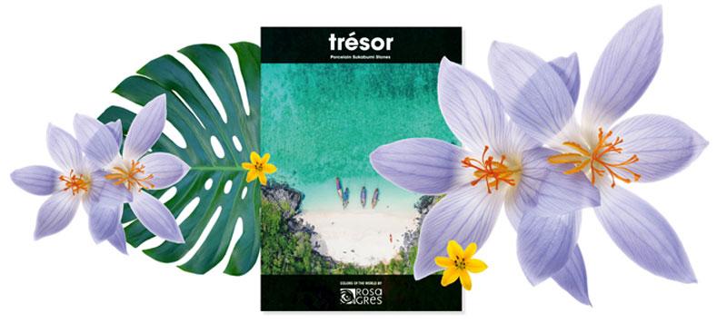 Nuevos colores de gres porcelánico Trésor, los colores más exóticos de Rosa Gres