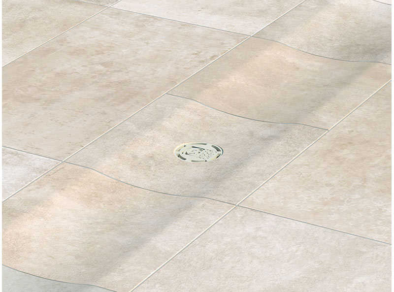 Water channels in porcelain stoneware - Boheme Collection